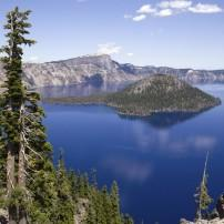 Mount Mazama, Wizard Island, Crater Lake, Oregon, USA