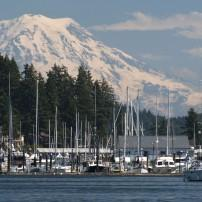 Gig Harbor, Mt Rainier, Washington, USA
