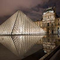 Louvre Pyramid, The Louvre, Paris, France