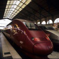 Thalys train at the station, Paris, France