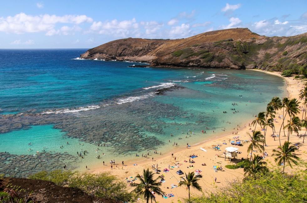 Hanauma Bay , Southeast Oahu, Honolulu and Oahu, Oahu, Hawaii, USA