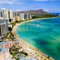Waikiki, Honolulu, Honolulu and Oahum Hawaii, USA.