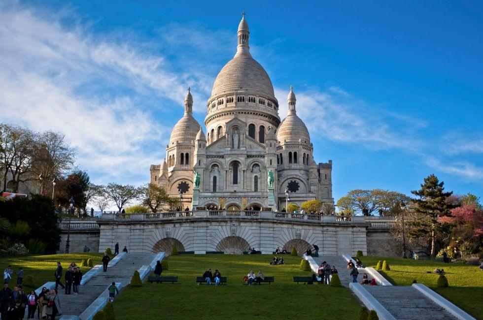 Basilica of Sacre-Coeur, Montmartre, Paris, France
