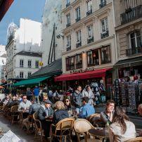 Cafe, Carrefour de Buci, St-Germain-des-Pres, Paris, France