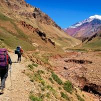 Hikers, Aconagua National Park, WIne Regions, Argentina