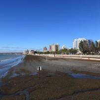 Beach, Coastline, Buildings, Puerto Madryn, Patagonia, Argentina