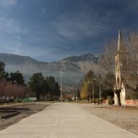 Church, El Bolson, Piltriquitron Mountains, Argentina