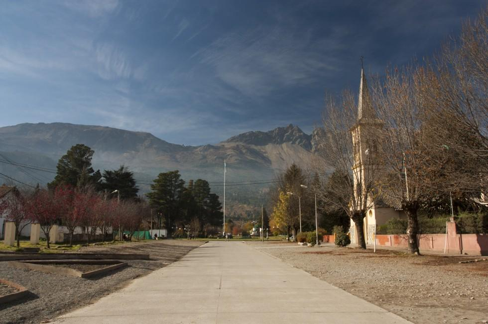 Church, El Bolson, Piltriquitron Mountains, Argentina