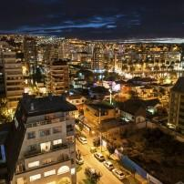 Cityscape, Night, Valparaiso, The Central Coast, Chile