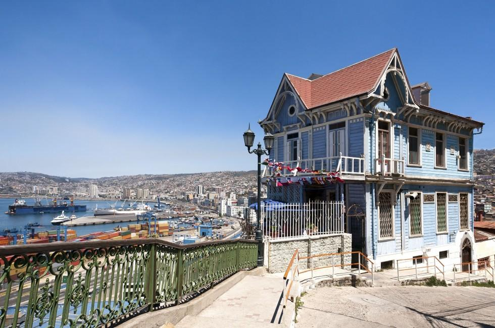 House, Port, Valparaiso, The Central Coast, Chile