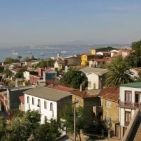 Rooftops, Cityscape; Valparaiso, The Central Coast, Chile