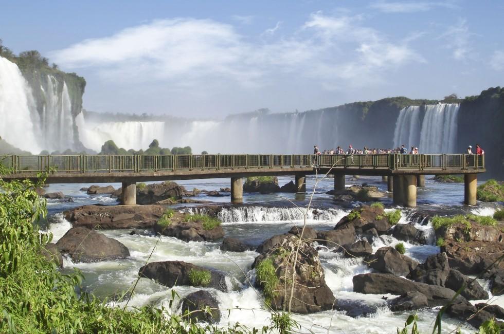 People, Outlook, Iguassu Falls, The South, Brazil