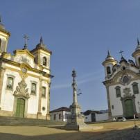 Churches, Town Square, Mariana, Minas Gerais, Brazil