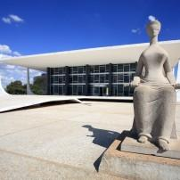 Statue, Supreme Federal Tribunal, Brasilia, Brasilia and the West, Brazil