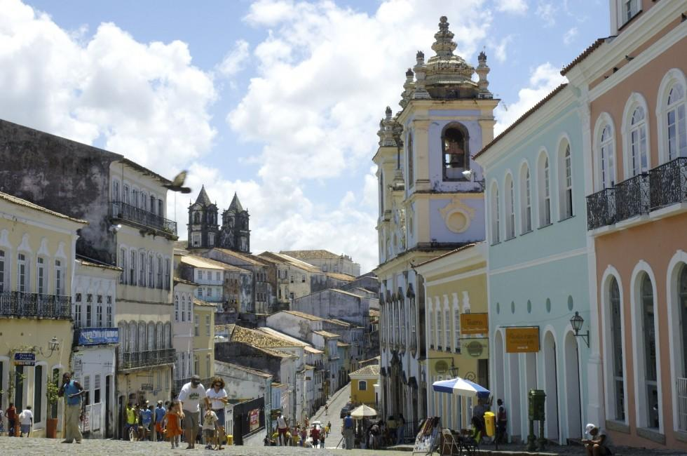 Street, Pelourinho, Salvador, Salvador and the Bahia Coast, Brazil
