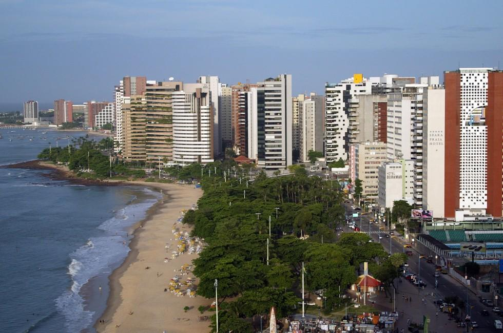 Coastline, Beach, Fortaleza Ceara, The Northeast, Brazil