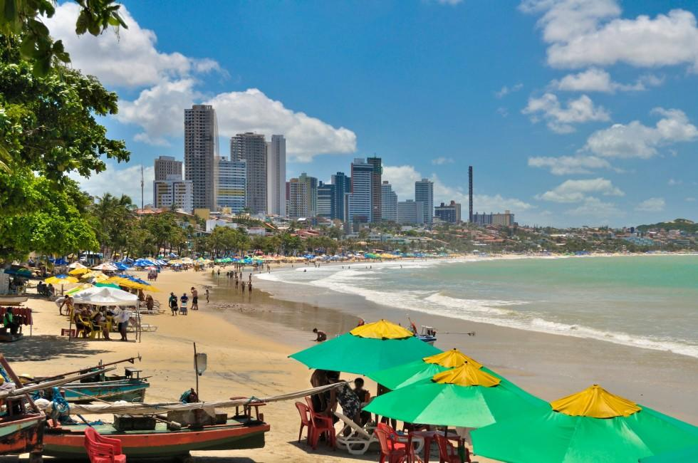 Ponta Negra Beach, Skyline, Natal, The Northeast, Brazil