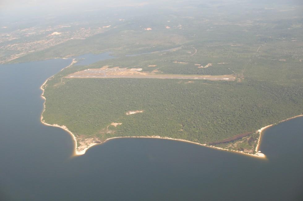 Rainforest, River, Airstip, Santarem Airport, Santarem, Para, The Amazon, Brazil