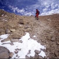 Hiker, Mount Toco, Atacama Desert, El Norte Grande, Chile