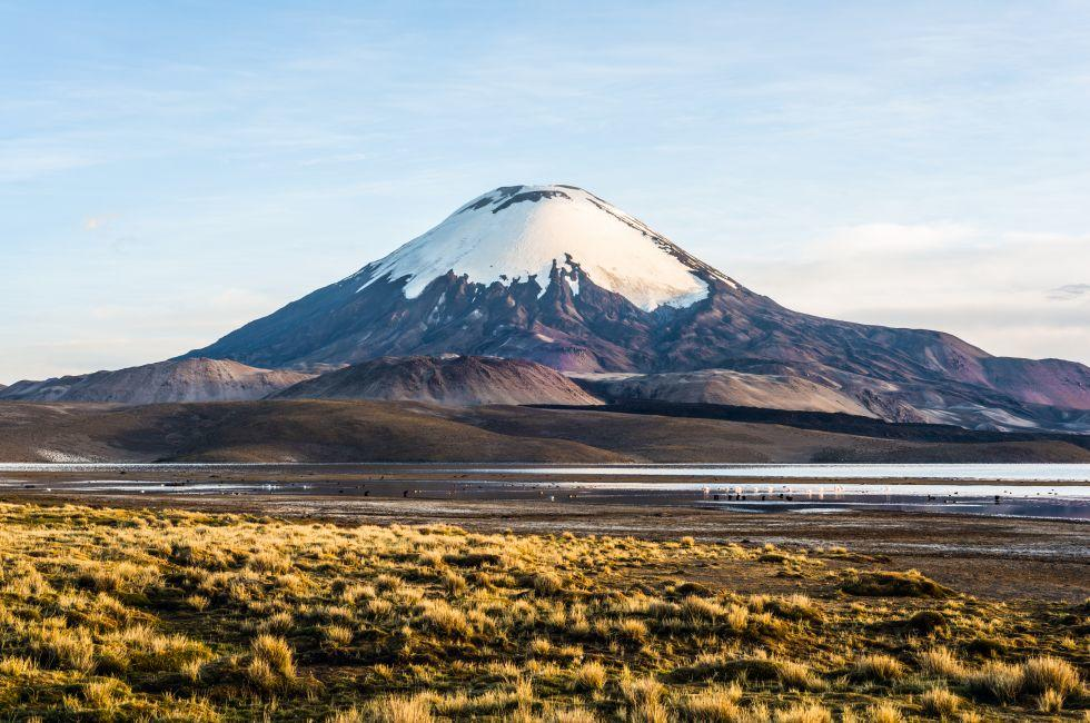 Parinacota Volcano, Lake Chungara, Chile