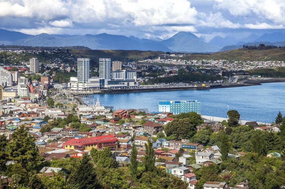 Cityscape, Coastline, Puerto Montt, The Lake District, Chile, South America