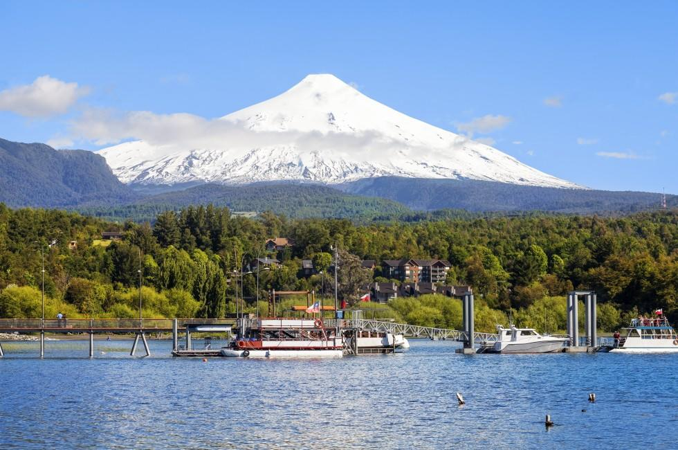 Lake, Villarica, The Lake District, Chile