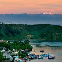 Harbor, Sunset, Landscape, Peruto Montt, Chile