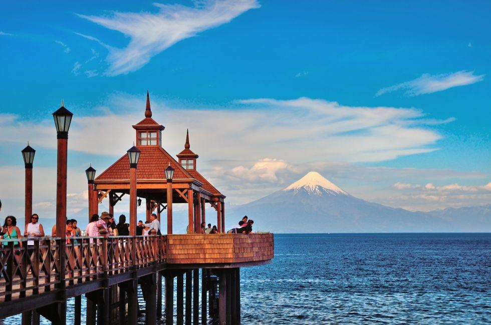 Llanquihue Lake, Volcan Osorno, Puerto Montt, Chile