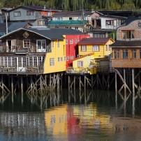Houses, Waterfront, Castro, Chiloe, Chile