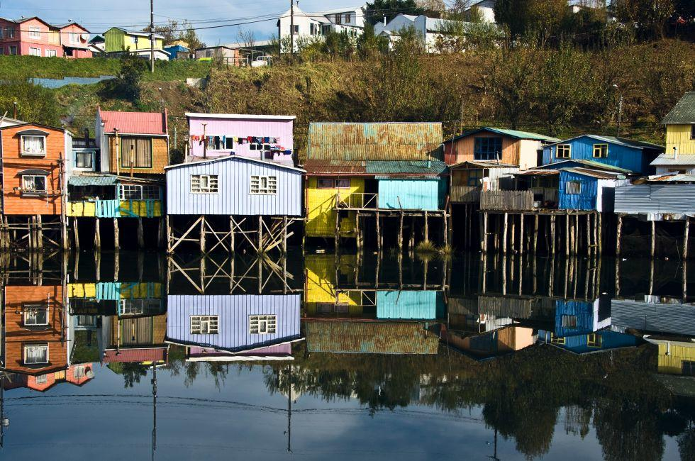 Palafitos Houses, Chiloe, Chile