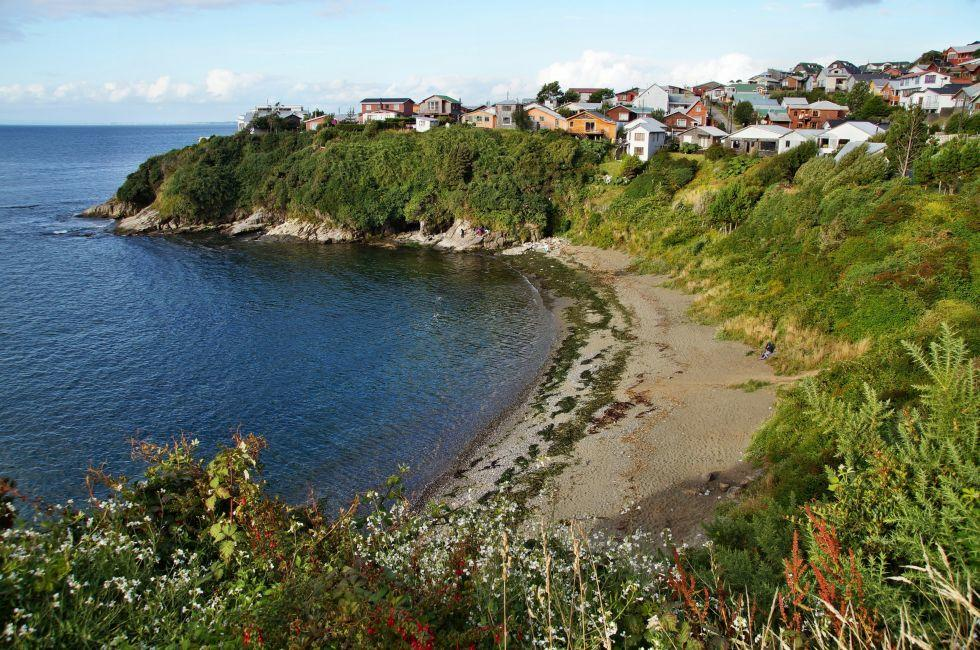 Beach, San Antonio Fort, Ancud, Chiloe, Chile