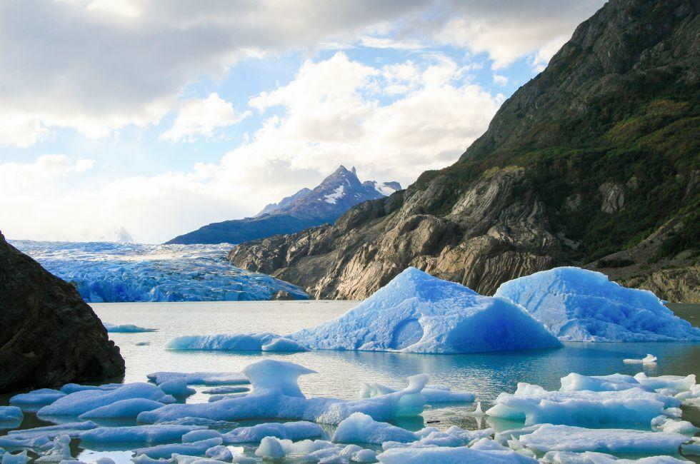 Glacier, Torres del Paine National Park, Patagonia, Chile