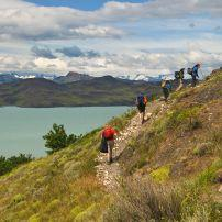 Hikers, Torres del Paines National Park, Torres del Paine, Patagonia, Chile