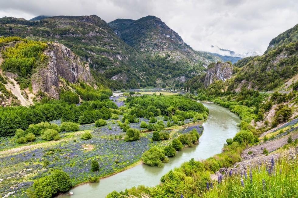 Simpson River Valley, Simpson River National Park, Puerto Aisen, Patagonia, Chile