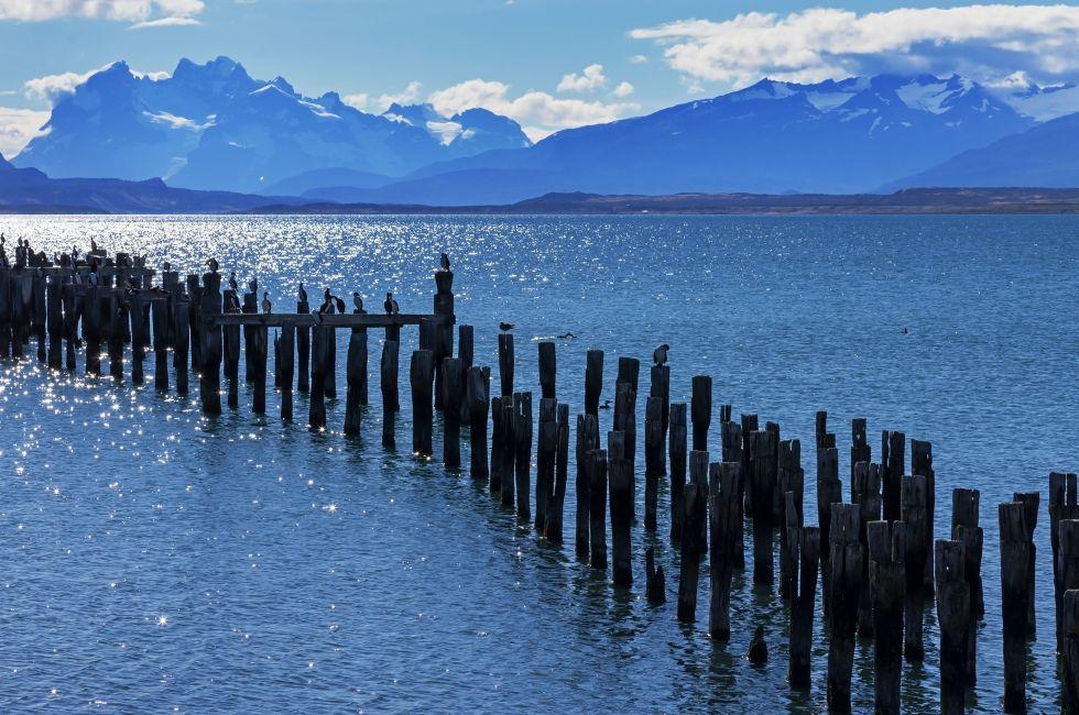 Mountains, Patagonia Bay, Puerto Natales, Chile