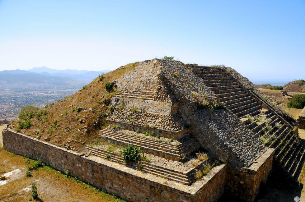 Pyramid Ruins, Monte Alban, Oaxaca, Mexico