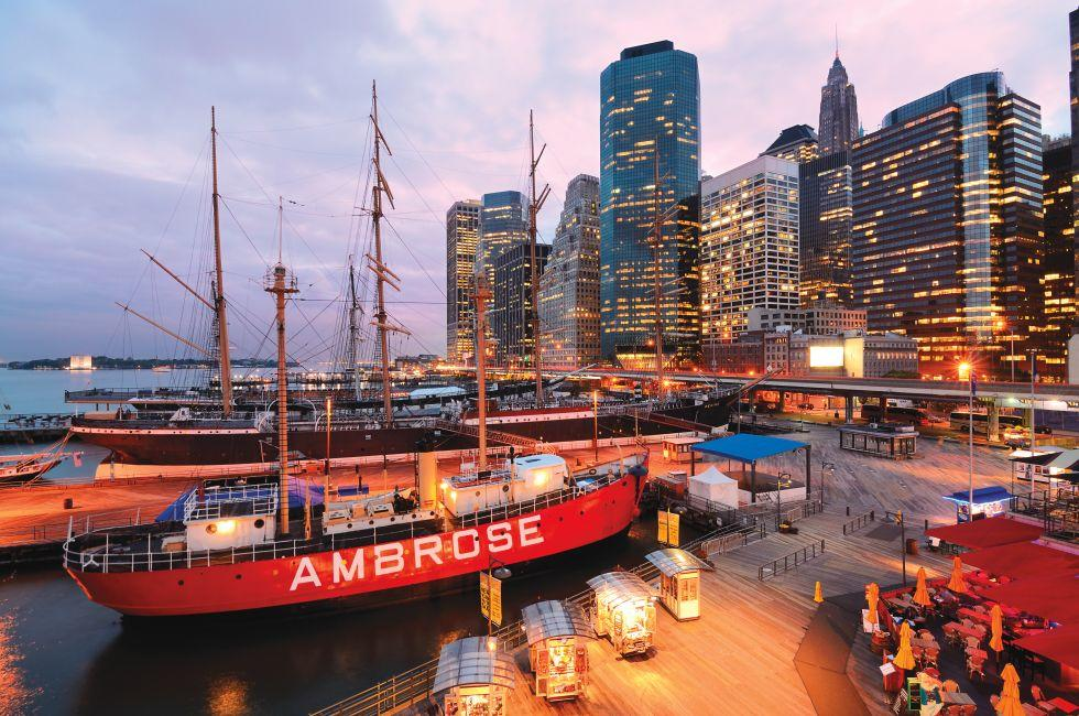 South Street Seaport, Financial District, New York City, New York, USA, North America