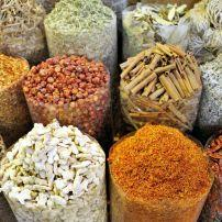 Spices, Market, Deira and the North Bank, Dubai, UAE