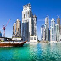 Cityscape, Boat, Dubai, UAE