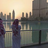 People, Sunset, Downtown, Dubai, UAE