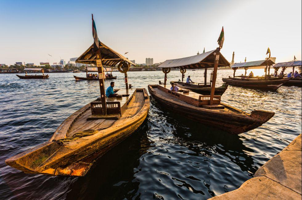 Boats, Waterfront, Dubai Creek and the Abra, Dubai, UAE