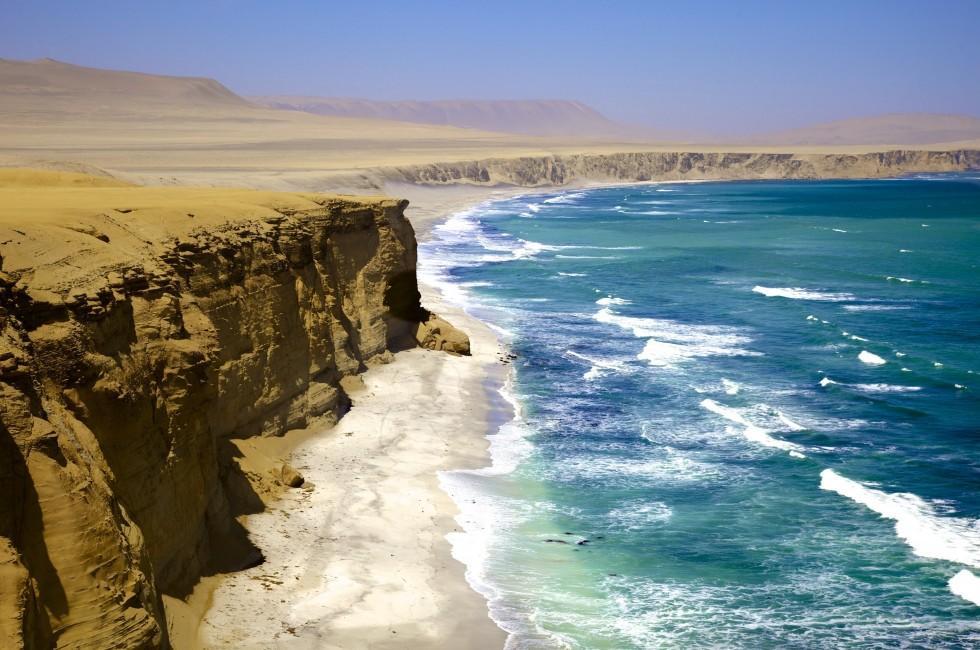 Coastline, Paracas National Park Reserve, Pisco, Peru