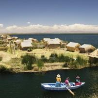 Boat, Uros Islands, Lake Titicaca, The Southern Andes and Lake Titicaca, Peru