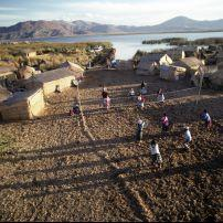 Lake Titicaca, Tortura reed boat, worlds highest Navigable lake, Peru, South America