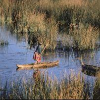 Lake Titicaca; Torturo reed boat; worlds highest Navigable lake; Peru