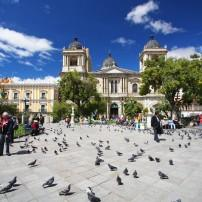 Plaza Murillo, Cathedral La Paz; Presidential Palace, La Paz, Bolivia