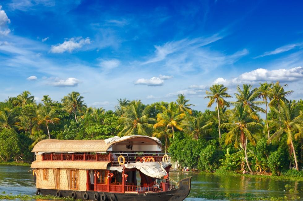 Houseboat, Kerala, India