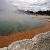 Champagne Pool, Wai O Tapu Geothermal Area, North Island's West Coast, New Zealand