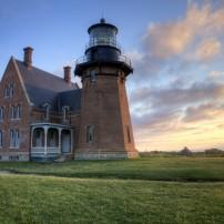 Southeast Lighthouse, Sunrise, Block Island, Rhode Island, USA
