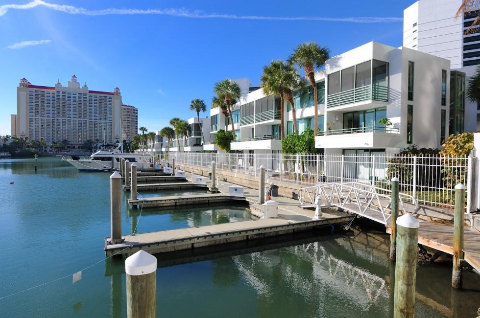 Marina, Condos, Sarasota, Florida, USA